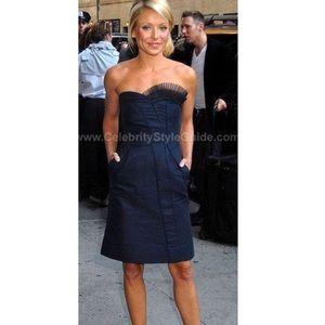 "Marc Jacobs ""Kitty"" Navy Blue Strapless Dress"